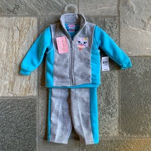 Sweatsuit with vest NWT